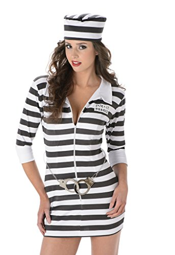 Women's Jailbird Prisoner Costume - Halloween (Womens Prisoner Costumes)