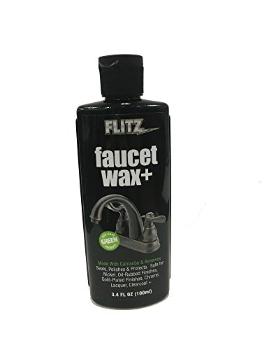 Flitz Faucet Wax+ 3.4 oz Bottle by Flitz