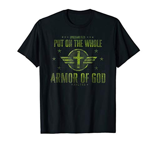 Armor of God Christian T-Shirt Bible Verse Quote