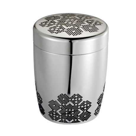 Royal Selangor Hand Finished Songket Collection Pewter Airtight Tea / Coffee Caddy by Royal Selangor