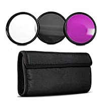 95MM Filter Set Inclusdes: Ultra Violet + Circular Polarizer + Fluorescent Filters For Tamron 150-600mm, Bower, Rokinon, Samyang, Vivitar 650-1300mm Telephoto Zoom, 500mm F/6.3 Mirror (T-Mount) Lens