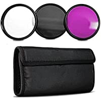 95MM Filter Set Inclusdes: Ultra Violet + Circular Polarizer + Fluorescent Filters For Tamron 150-600mm, Bower, Rokinon, Samyang, Vivitar 650-1300mm Telephoto Zoom, 500mm F/6.3 Mirror (T-Mount) Lens