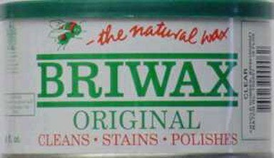 (Briwax (Clear) Furniture Wax Polish, Cleans, stains, and polishes.)