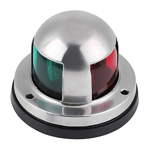 truwire Waterproof Boat Led Navigation Lights, Marine Navigation Lamp with DC 12V, LED Boat Bow Light for Pontoon, Yacht, Skiff, Skeeter and Chandlery, Bi-Color, Green and Red