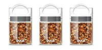 Best PREMIUM Airtight Storage Container for Coffee Beans, Tea and Dry Goods - EVAK - Innovation that Works by Prepara, Glass and Stainless, White G