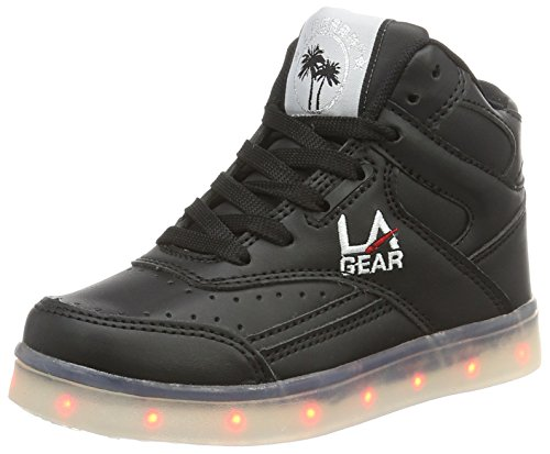 L.A. Gear Flo Lights, Zapatillas Altas Unisex Niños Schwarz (black wht outsole)