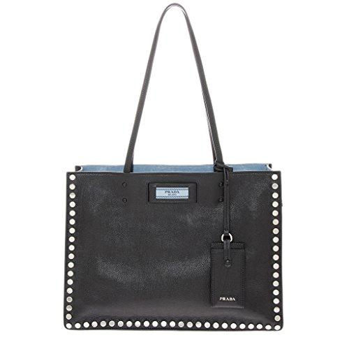 - Prada Women's Etiquette Studded Tote Bag Black