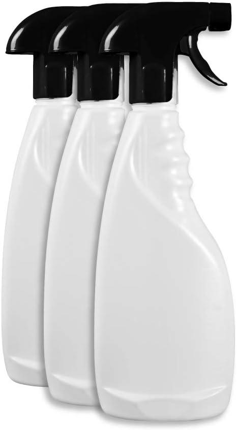 Rc Ocio Botes Spray vacios con pulverizador para Limpieza Agua, Jardin dispensadores a presion con difusor Packs de 3 Botes de plastico de 750ml