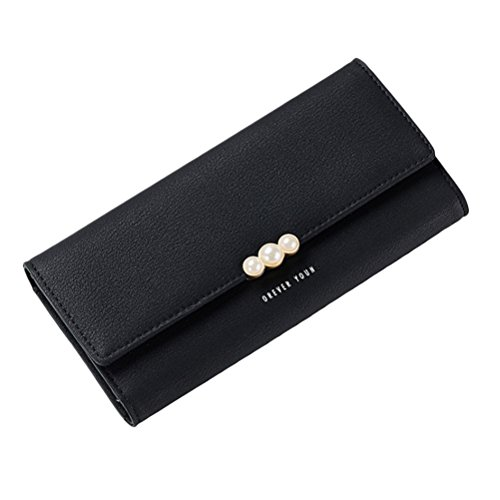 Zipped Coin Pocket (Zhhlinyuan Simple Ladies Handbag Three Fold Wallet Expandable Zipped Coin Pocket)