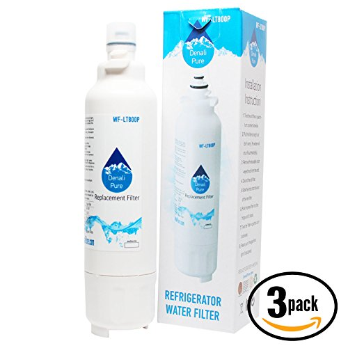 3-Pack Replacement LG LMXS30776S Refrigerator Water Filter - Compatible LG LT800P, ADQ73613401 Fridge Water Filter Cartridge