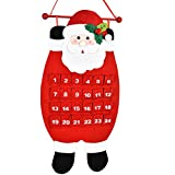 Outgeek Christmas Calendar, Christmas Decoration Creative Santa Snowman Elk Wall Calendar