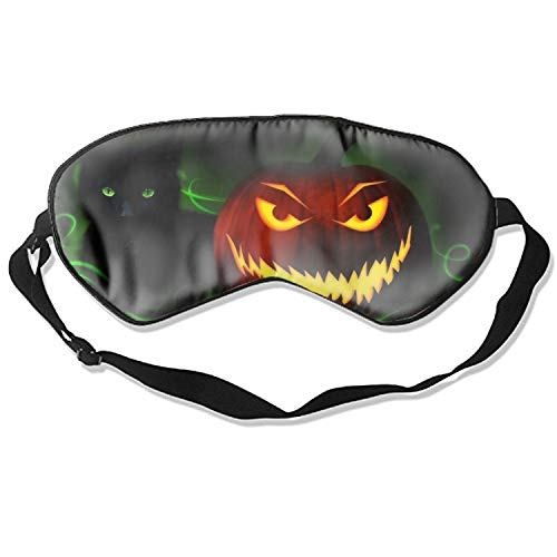 Scary Halloween Pumpkin Sleeping Mask Reusable Cold To Improve Sleep Relief Edema Eyestrain Fatigue Headache And Tension Best Men And Women Eye Mask ()