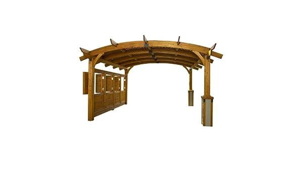 12 x 16 Sonoma arco pergola de madera con entramado para techo y ...