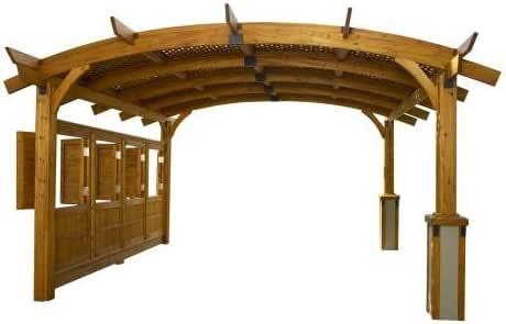 12 x 16 Sonoma arco pergola de madera con entramado para techo y pared de privacidad – Redwood Acabado: Amazon.es: Jardín