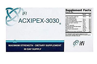 ACXIPEX-3030 Weight Loss Supplement (30 Pills) Fat Burner, Energy Booster, Appetite Suppressant White Blue Specks Tablets