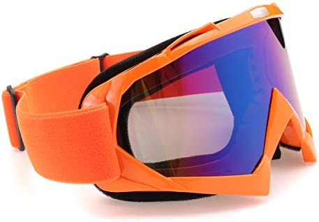 Queenwind オフロードモトクロスレーシングAtvダートバイクオートバイスキーゴーグルアイウェアレンズ-透明