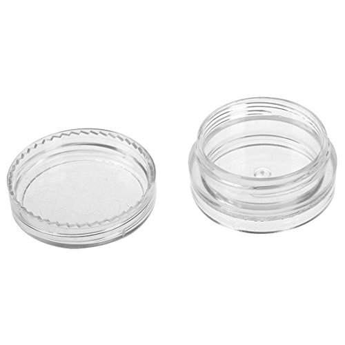 25 Pcs Clear Plastic 3g 3ml Cosmetic Empty Container Jars Travel Makeup Eyeshadow Face Cream Lip Balm Sample Pots Bottles With Screw Lids