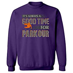 This amazing parkour theme Sweatshirt would make a great addition to your collection. Perfect for base jumpers who love displaying their personality and passion for all to see