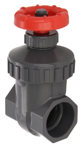 (Spears PVC Gate Valve, Non-Rising Stem, Buna-N O-Ring, 1