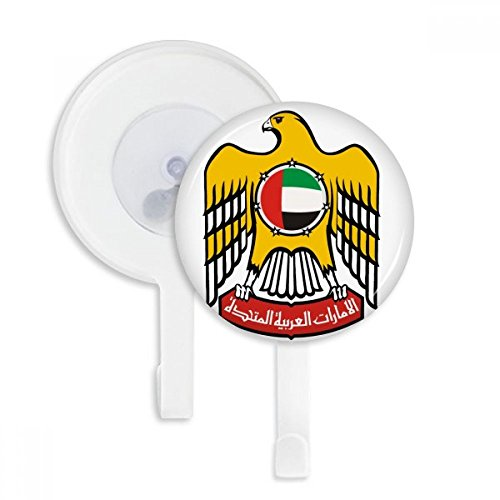 (United Arab Emirates National Emblem Sucker Suction Cup Hooks Plastic Bathroom Kitchen 5pcs Gift)
