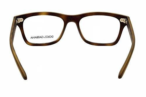... 52mm Dolce   Gabbana Montures de lunettes 5014 Pour Homme  Semi-Transparent Black Rubber, ... 1486a7c11b54