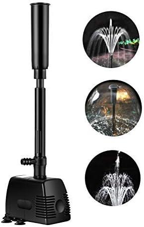 everfarel Bomba para Fuente,Fuente de Jardín Solar,Baño de Aves, Fish Tank y Decoración del Jardín (800L/H): Amazon.es: Jardín