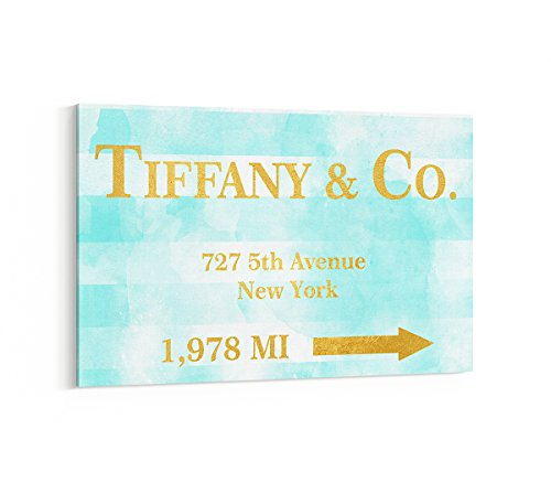 Fashion wall pop art print - Illustration - Tiffany and Co New York Breakfast At Tiffanys Audrey Hepburn - Chic Glam Vogue poster on Canvas 20