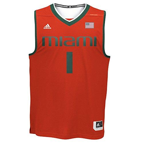 NCAA Miami Hurricanes Men's Replica Jersey, Medium, Orange