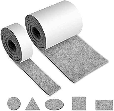 Manualidades DIY MZZJD-01 2cmx100cm,Blanco crema Andux Cinta Fieltro Adhesivo Para Proteger Muebles Piso