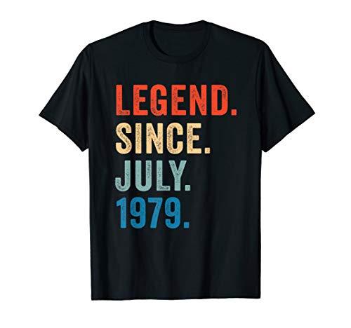 Legend July 1979 T-Shirt Vintage 40th Birthday Decorations