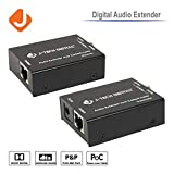 J-Tech Digital Optical & Coaxial Digital Audio Extender/Converter over single Cat5e/6 Cable (PoC) up to 990 feet (300 meter) (Digital Audio Extender)