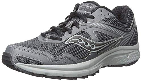 Saucony Men's Cohesion 10 Running Shoe, Charcoal/Grey, 12 Wide