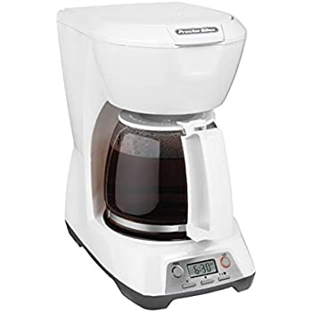 Proctor Silex 12-Cup Programmable Coffee Maker, White (43671)