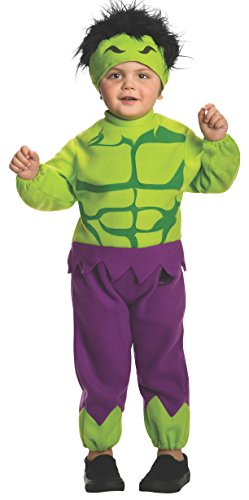 Old Movie Character Costumes (Rubie's Costume Baby's Marvel Classics Avengers Assemble Fleece Hulk Costume, Multi, Toddler)