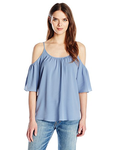 french-connection-womens-polly-plains-cold-shoulder-blouse-meru-blue-xs
