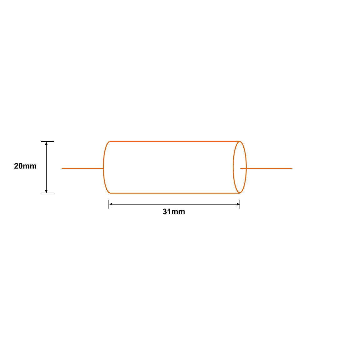 uxcell Film Capacitor 100V DC 6.8uF Axial Polyester Film Capacitor for Audio Divider Yellow