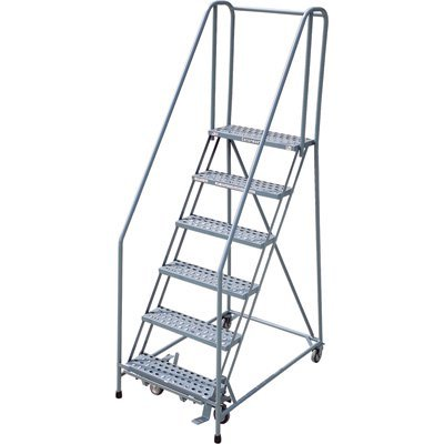 Outstanding Cotterman Rolling Steel Ladder 450 Lb Capacity 6 Step Spiritservingveterans Wood Chair Design Ideas Spiritservingveteransorg