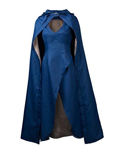 CosFantasy New Classic Daenerys Targaryen Cosplay Costume Blue Dress mp001165 (Women S)