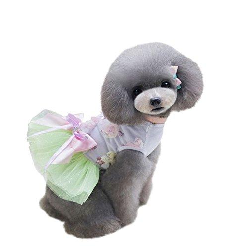 Vestidos Green Dress Party Clothes Pet Pinkdose Pet Light for Dress Tutu Dog for Dog Cat Small Candy Color M Dogs Pandada Summer g5PaWRwqP