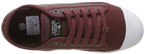 Le Temps des Cerises Basic 02 - Zapatillas de deporte Mujer Rojo - Rouge (Snake Wine)