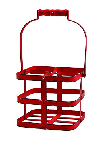 - Twine Rustic Farmhouse Big Red 4 Bottle Carrier by