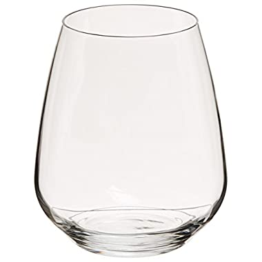 Luigi Bormioli Crescendo 23-1/4-Ounce Stemless Wine, Set of 4