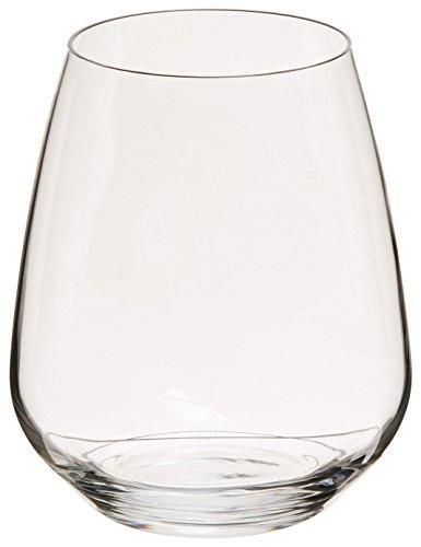 Luigi Bormioli Crescendo 23-1/4-Ounce Stemless Wine, Set of -