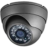 Amview 1300TVL Sony CMOS CCD 3.6mm Lens 24pcs Infrared LEDs Night Vision Metal Housing Dome Camera