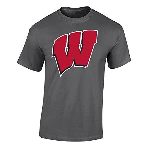 Elite Fan Shop NCAA Men's Wisconsin Badgers T Shirt Charcoal Icon Wisconsin Badgers Charcoal ()