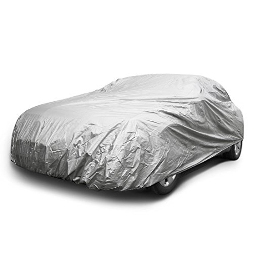 Copap Car Covers Nylon Universal Cover Cars up to 160 inches Wear Resisting Elastic Hems Indoor Outdoor Protection ()