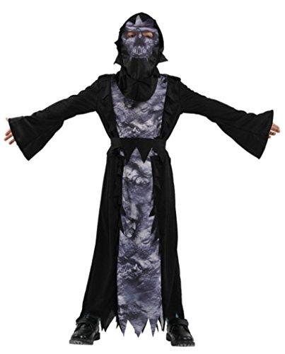 Honeystore Devil Child Costume Robe Vampire Death Halloween Costume Fancy Dress -