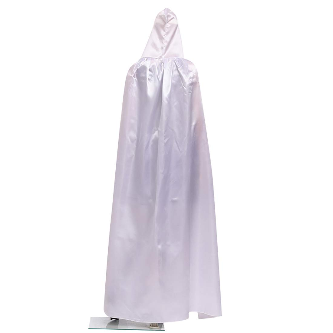 Wgior Full Length Unisex Tunic Hooded Robe Cloak Adult Halloween Costume Cosplay Capes (XL, White)