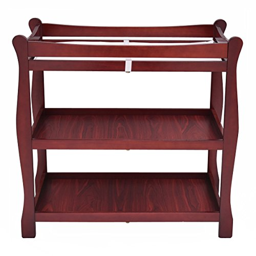 Cherry Sleigh Style Baby Changing Table Infant Newborn Nursery Diaper Station by onestops8