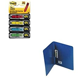 KITACC42523MMM684SH - Value Kit - Acco PRESSTEX Grip Punchless Binder With Spring-Action Clamp (ACC42523) and Post-it Arrow Message 1/2amp;quot; Flags (MMM684SH)